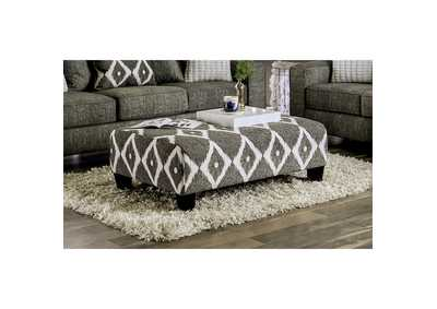 Basie White Ottoman,Furniture of America