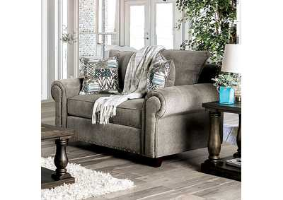 Mott Gray Loveseat,Furniture of America