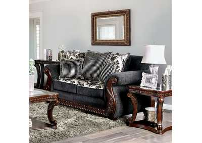 Whitland Dark Gray Loveseat,Furniture of America