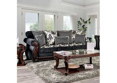 Whitland Gray Stationary Sofa,Furniture of America