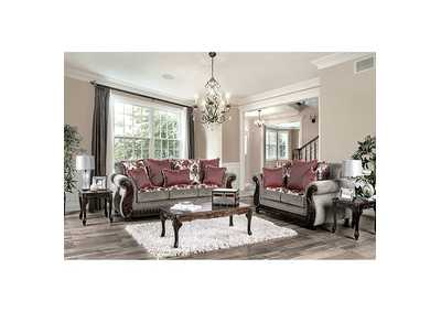 Whitland Light Gray Loveseat,Furniture of America