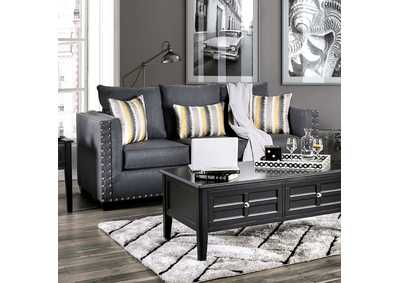 Inkom Blue Stationary Sofa