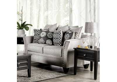 Talgarth Gray Loveseat,Furniture of America
