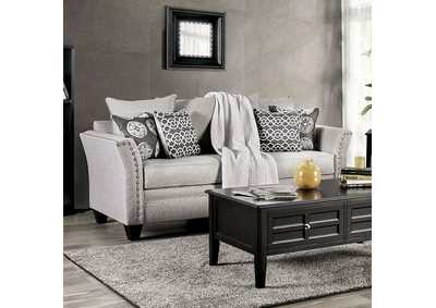 Talgarth Gray Stationary Sofa,Furniture of America