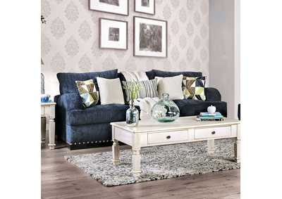 Jayda Blue Stationary Sofa,Furniture of America