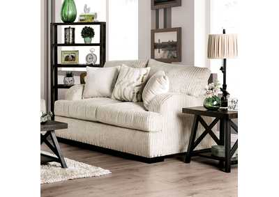Zayla Golden Ivory Loveseat