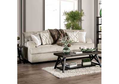 Zayla Beige Stationary Sofa,Furniture of America