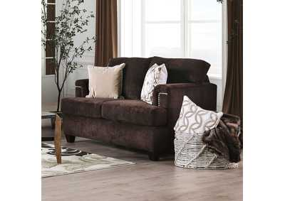 Brynlee Chocolate Loveseat,Furniture of America