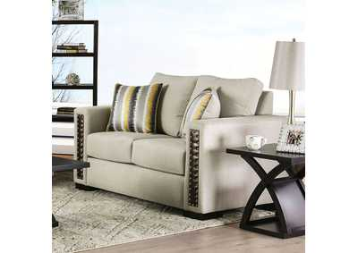 Chubbuck Beige Loveseat,Furniture of America
