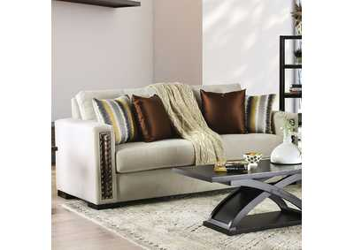 Chubbuck Beige Sofa,Furniture of America