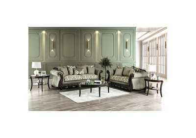 Justina Gray Loveseat,Furniture of America