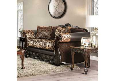 Newdale Brown Loveseat