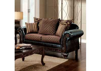 San Roque Brown Loveseat,Furniture of America