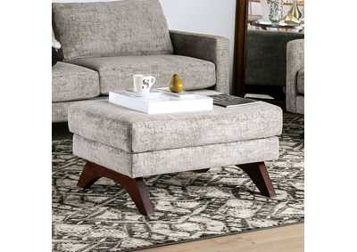 Harlech Gray Ottoman,Furniture of America