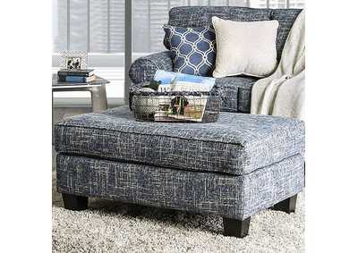 Pierpont Blue Ottoman,Furniture of America