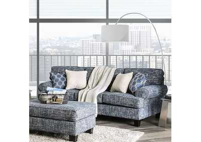 Pierpont Blue Sofa,Furniture of America