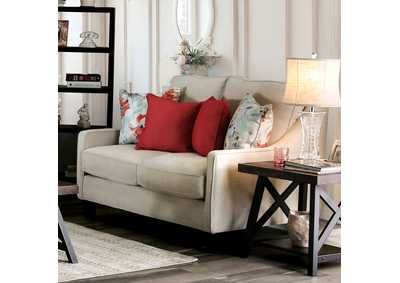 Nadene Ivory Loveseat,Furniture of America