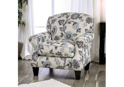 Nash Blue/Black Floral Chair