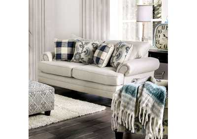 Nash Beige Loveseat,Furniture of America