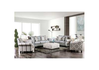 Image for Misty Blue Gray Sofa