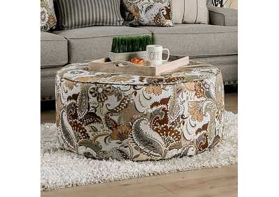 Begley Floral Ottoman,Furniture of America