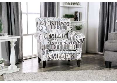 Verne Letter Chair,Furniture of America