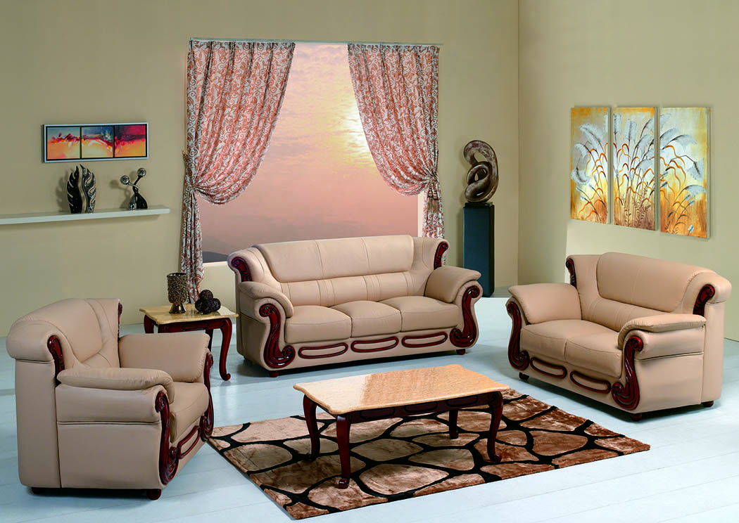 Honey Bonded Leather Sofa,Furniture World Distributors