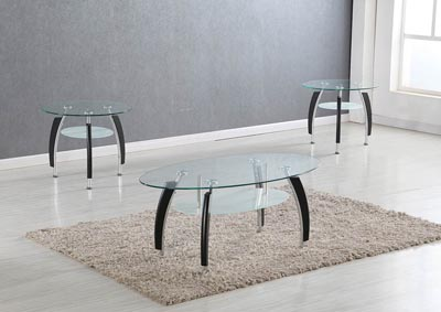Image for Black Cocktail Table and 2 End Tables