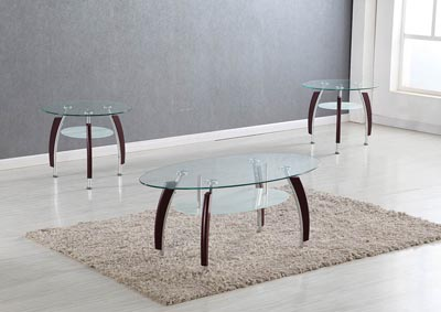 Image for Mahogany Cocktail Table and 2 End Tables