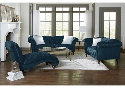 Image for Teal Crushed Velvet Chaise