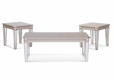 Image for Silver 3 Pack Table Set