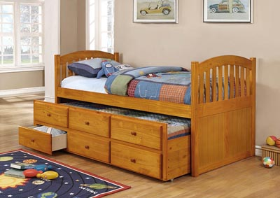 Image for Honey Twin Captain's Bed