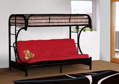 Image for Black Metal Futon Bunk Bed