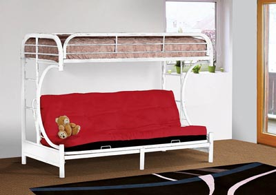 Image for White Metal Futon Bunk Bed
