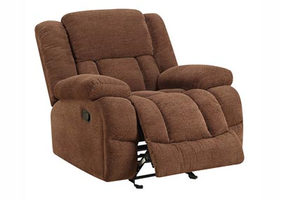 Image for Chocolate Chenille Glider Recliner