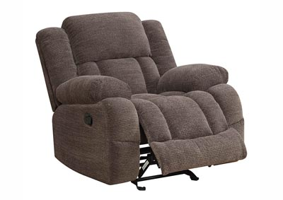 Image for Gray Chenille Glider Recliner