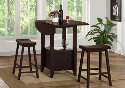 Image for Espresso Counter Height Stool (Set of 2)