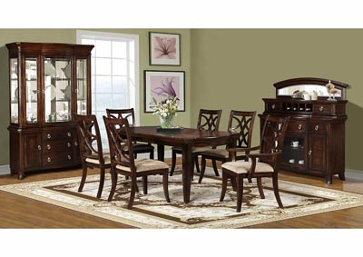 Image for Dark Pecan China Cabinet (2 PC)