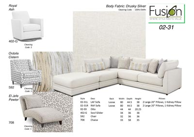 Image for Drusky Silver (Sustain) Drusky Silver Sofa