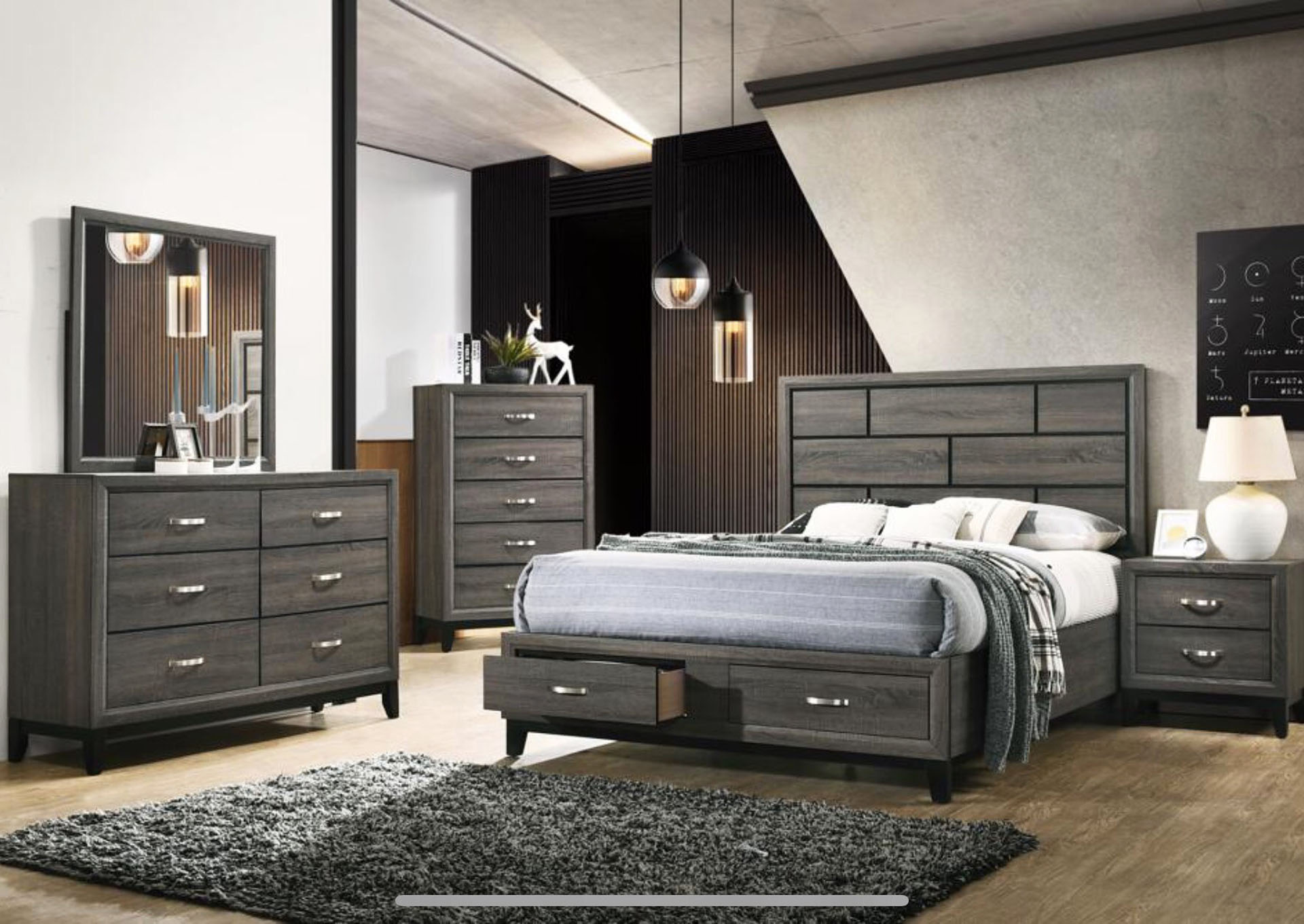 Hudson Gray 5 Piece King Bed Set Amazing Furniture Downtown Norwich Ct