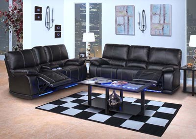 Image for Black Electron Black Power Recliner Sofa