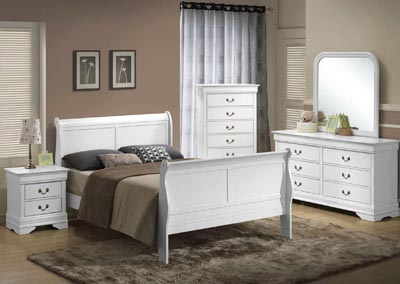 Image for LP White Dresser and Mirror