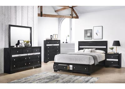 Image for Matrix Black Queen Bed