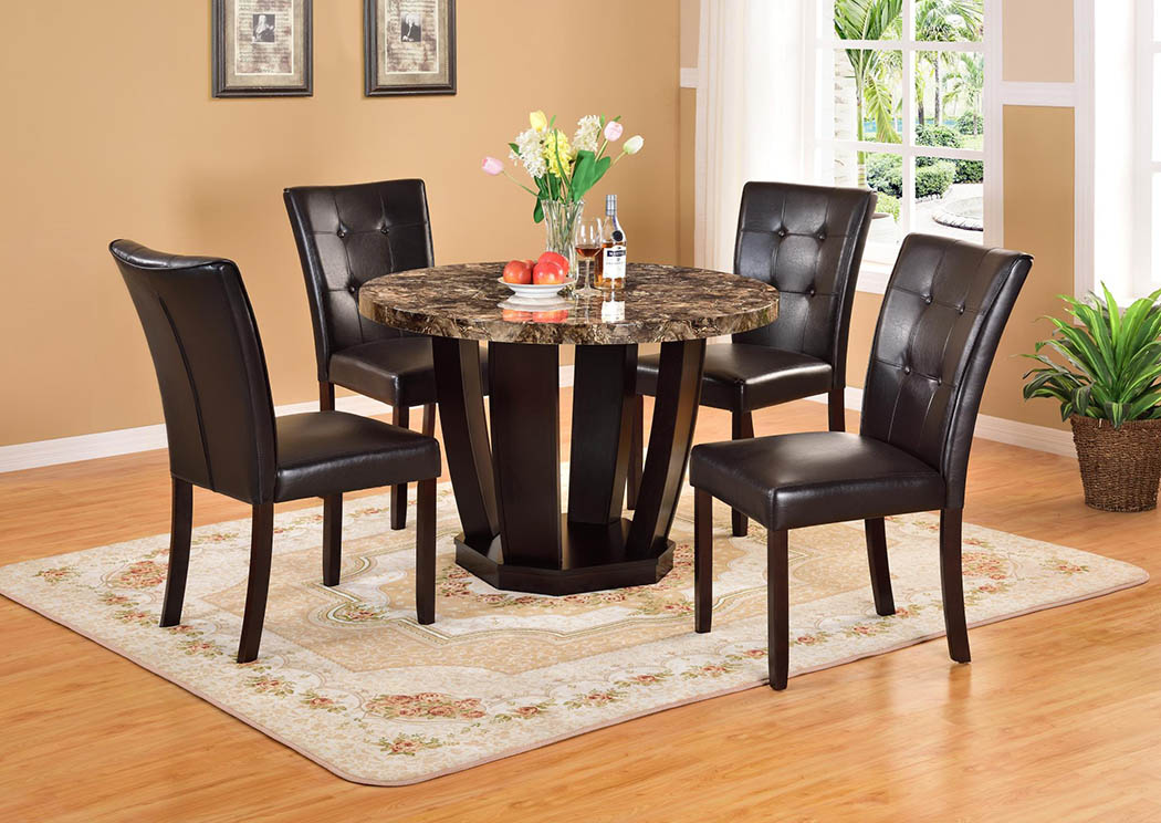 Dia Faux Marble Dinette (Set of 5),Global Trading