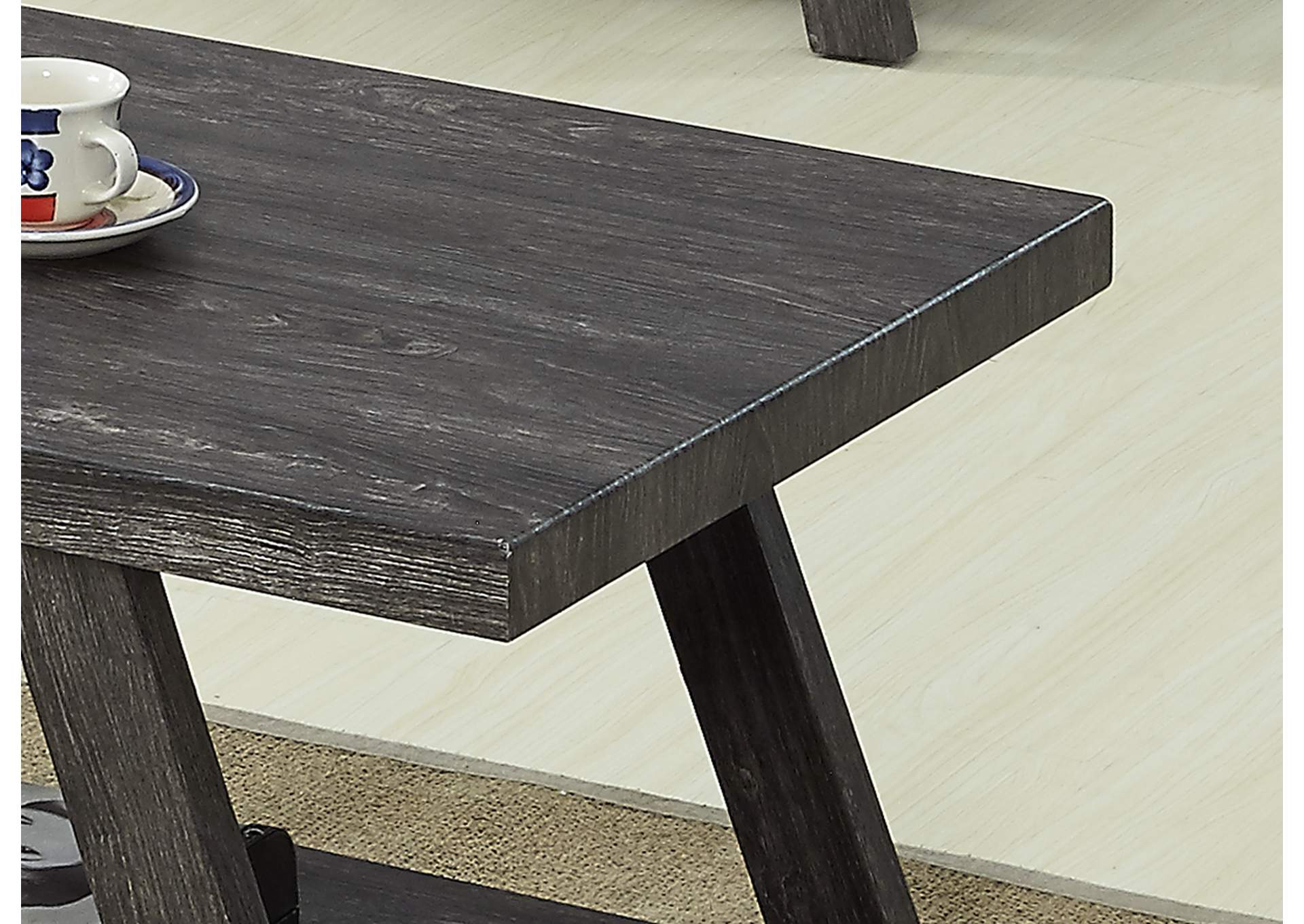 Grey 3 Piece Coffee & End Table Set,Global Trading