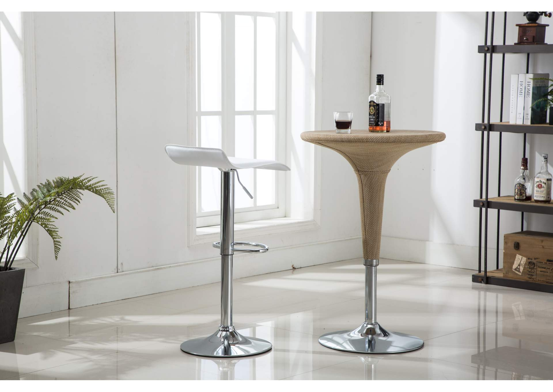 White Bar Stool (2 In 1 Box),Global Trading
