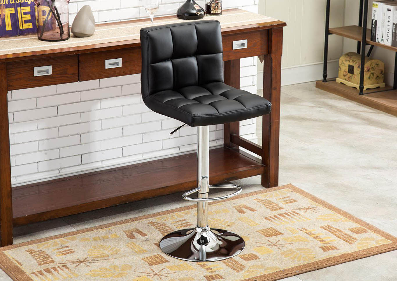 Black Bar Stool (2 In 1 Box),Global Trading