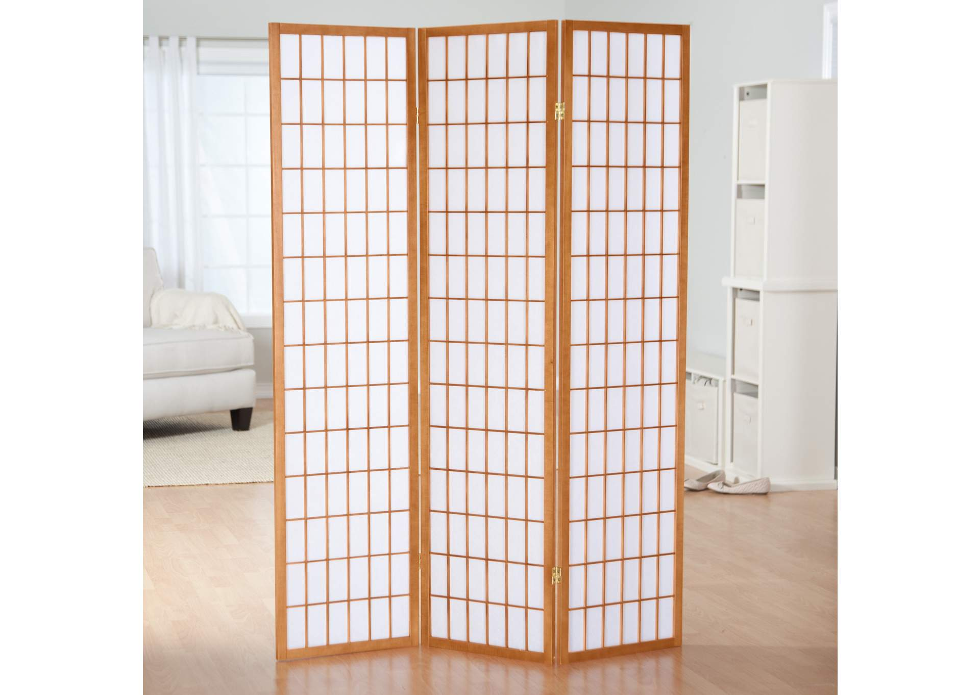 Natural 3 Panel Screen,Global Trading