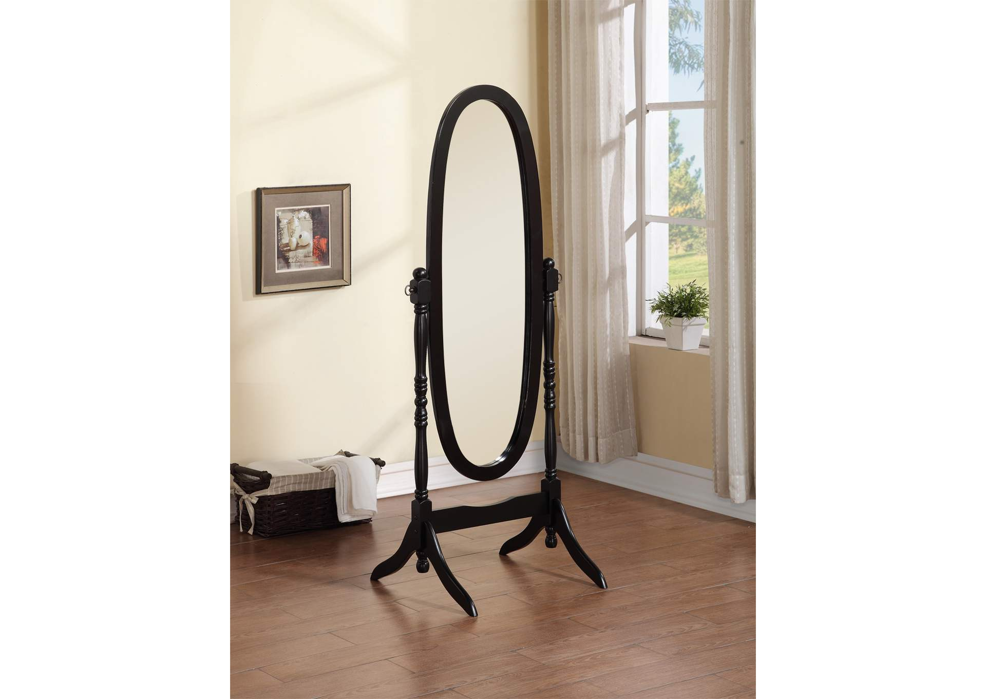Black Cheval Mirror,Global Trading