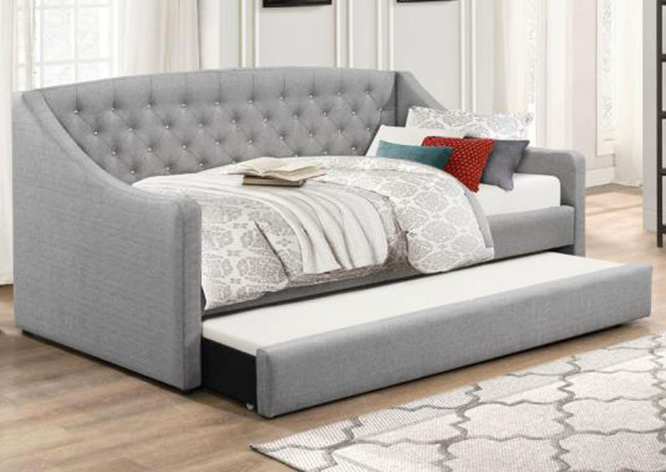Grey Daybed W/ Trundle,Global Trading